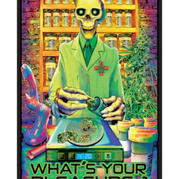 """What's Your Pleasure?"" Blacklight Poster"