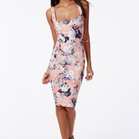 Missguided - Chenai Bodycon Dress Pink Floral