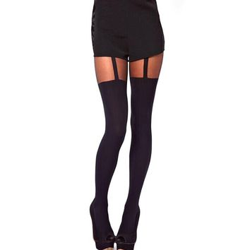 Women's thigh high stockings 1pc Decorated Garters Stretchy hosiery