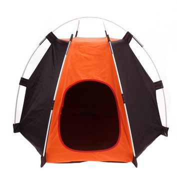 Portable Folding Pet Tent Foldable  Camping Pets Dogs Cats Tent House Shelter Rainproof Washable Pet Cage Tent  E5M1