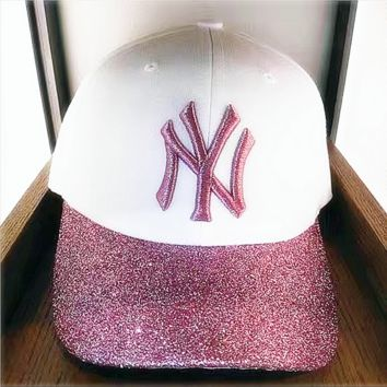 NY Fashion Hat Hot Shining cap Pink