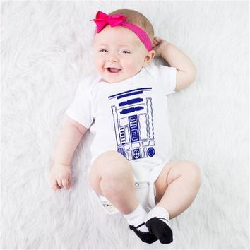 Star Wars Force Episode 1 2 3 4 5 Cotton Newborn Baby Girls Boys Clothes Short Sleeve Bodysuits Print  Cute Summer Jumpsuit Outfits Baby Clothes DS19 AT_72_6