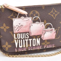 Authentic Louis Vuitton Monogram Mini Pochette Accessoires Pouch LV 52934