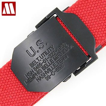 Marine corps tactical Belts Military Canvas Belt For Mens & Woman Buckle Belts Leisure Sports Jeans Casual