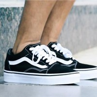 Vans New fashion couple running shoes Black