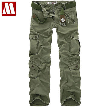New style fashion Male Breeches men's cotton coveralls man leisure trousers Men's military pants Cargo pant