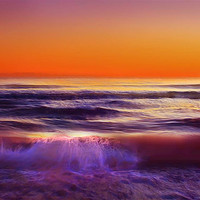 sunset over sea, instant download photography, newport beach, california, commercial use, nature