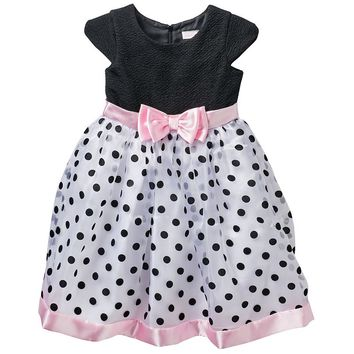 Youngland Polka-Dot Tulle Dress - Girls