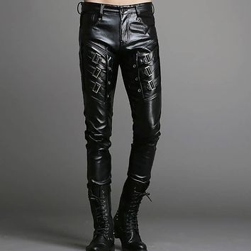 Skinny Vegan Leather Moto NuGothic Pants