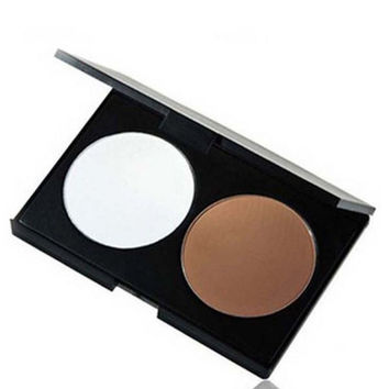 Two Color BRONZING SHEER FINISH Pressed Powder in WARM NATURAL