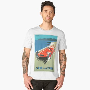 """Cote D'Azur Old Poster"" Men's Premium T-Shirt by hypnotzd 