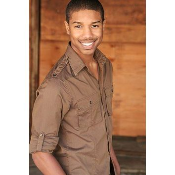 Michael B Jordan poster Metal Sign Wall Art 8in x 12in