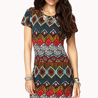 Tribal Print T-Shirt Dress