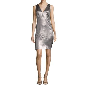 Silk Satin Shift Dress