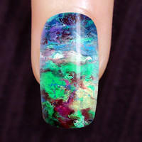 "Nail art abstract. Original art on fake nails. Set of 20 press on finger nails. ""Experienced"""