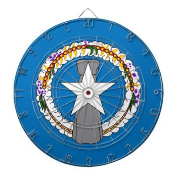 Dartboard with Flag of Northern Mariana, USA