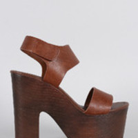 Women's Speed Limit 98 Leatherette Band Chunky Platform Heel