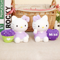 Pale Violet Cats Pen Creative Resin Gifts Decoration Home Decor [6282377862]