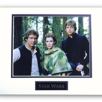 STAR WARS LEIA HAN SOLO LUKE MATTED LICENSED 8X10 PHOTO FOR FRAME 11X14 RETURN OF THE JEDI