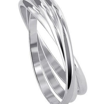 Gem Avenue 925 Sterling Silver Triple Band Thumb Ring