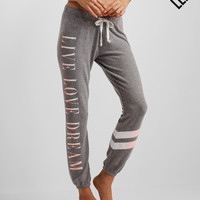 LLD Diagonal Stripe Cinch Sweatpants