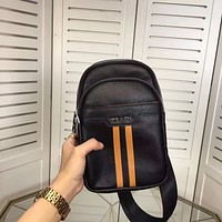 PRADA MEN'S NEW FASHION LEATHER CHEST PACK BAG CROSS BODY BAG