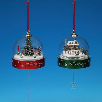 Pull-String Christmas Domes