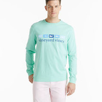 Long-Sleeve Fish & Whale Flags Graphic T-Shirt