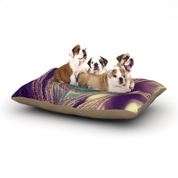 "Nastasia Cook ""Proud as a Peacock"" Brown Feather Dog Bed"