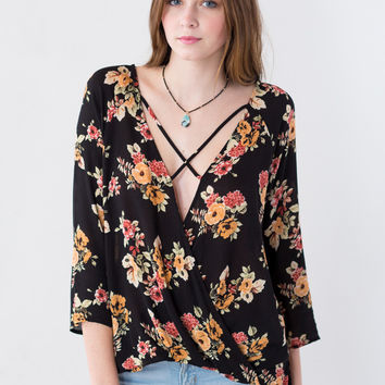 Louisa Faux Wrap Top
