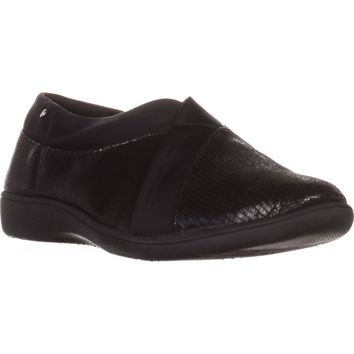 GB35 Parisaa Flat Slip-On Comofort Shoes, Black, 5.5 US