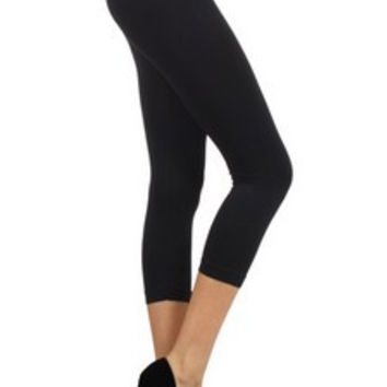 Capri Leggings - Solid Color