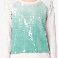 Sequined Ombré Pullover