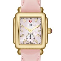MICHELE 'Deco 16' Diamond Dial Customizable Watch | Nordstrom