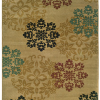 Oriental Weavers Camden 2320A Gold/Red Floral Area Rug