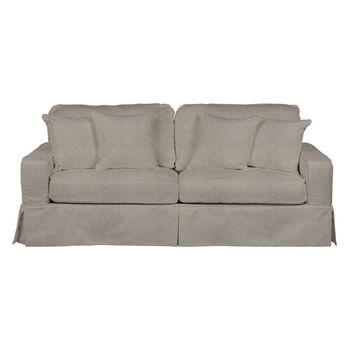 Americana Slipcovered Sofa in Light Grey