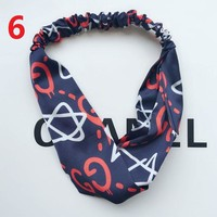 GUCCI Headband LV Headband Women Warmer Head Hair Band B104521-1 Navy Blue Stars