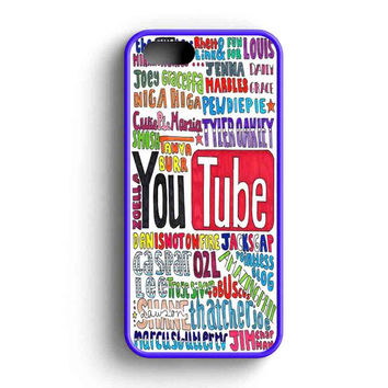 Youtubers Collage Colorfull Fan Art  iPhone 5 Case iPhone 5s Case iPhone 5c Case