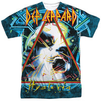 DEF LEPPARD/HYSTERIA-S/S ADULT POLY CREW-WHITE
