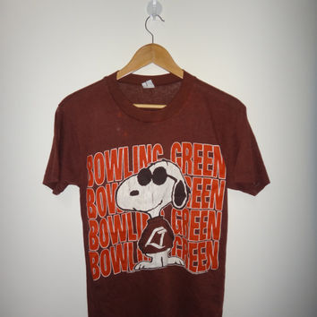 Vintage Snoopy Bowling Green 50/50 T Shirt Peanuts United Feature Syndicate 1971 Shirt