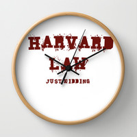 Harvard Law (Just Kidding) Wall Clock by Poppo Inc. | Society6