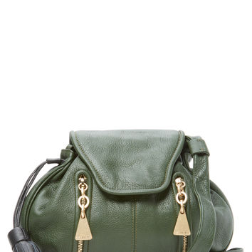 See by Chloe Women's Double Front Zip Leather Crossbody - Green