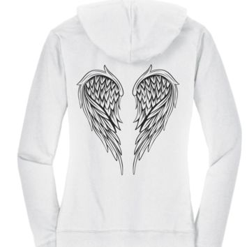 Black & White Hoodie Collection - Angel Wings