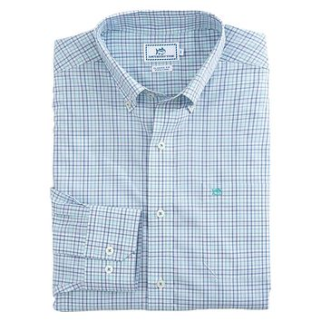 Pinney's Beach Plaid Sport Shirt in Tsunami Grey by Southern Tide