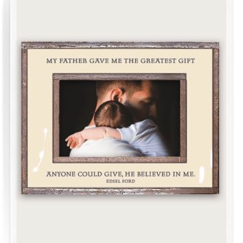 The Greatest Gift My Father Copper & Glass Photo Frame