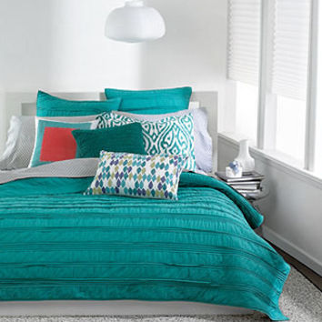 Bar III Bedding, Solid Teal Ruffled Coverlet Collection - Bedding Collections - Bed & Bath - Macy's