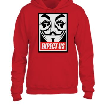 Anonymous Expect us - UNISEX HOODIE
