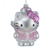 Kurt Adler HK4102 Glass Hello Kitty Ornament, 5-Inch