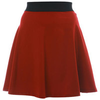 Red Skater Skirt - Skirts  - Apparel