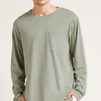 Long-Sleeve Pocket Tee